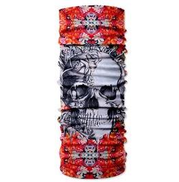 Skull Print Scarf V13