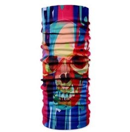 Skull Print Scarf V16