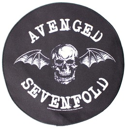 Avenged Sevenfold Back Patch Official A7 X 29cm X 29cm Death Bat
