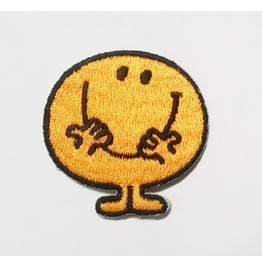 Cute Yellow Smiley Embroidered Iron On Patch.