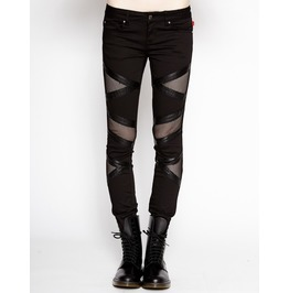 Women Gothic Jeans Ladies Punk Trip Biker Pant Jeans