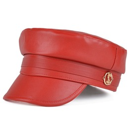 New Fashion Women Leather Cap,Retro Casual Street Style Hat