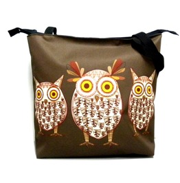 Zipped Bag With Owls