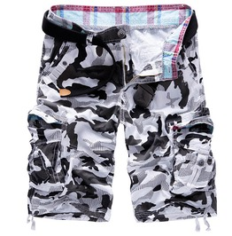 Camouflage Multi Pocket Cargo Loose Shorts Men
