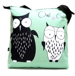 Zipped Bag With Owl And Owl