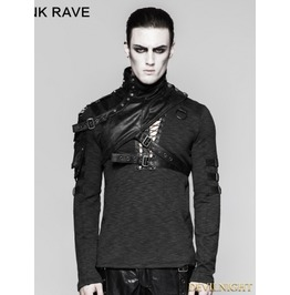 Black Mechanical Steampunk Armor Short Jacket For Men S 207 Mbk