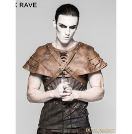 Coffee Mechanical Steampunk Armor Cape For Men S 212 Mco
