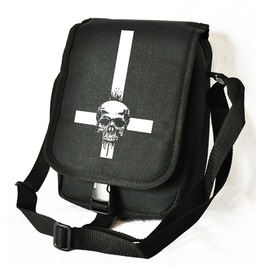 Cryoflesh Inverted Cross Skull Punk 666 Cyberpunk Gothic Festival Bag