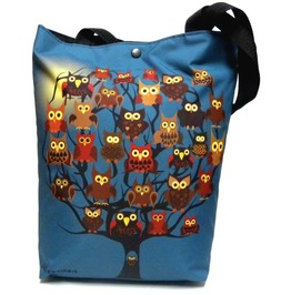 Bag With Owl Tree And Moon