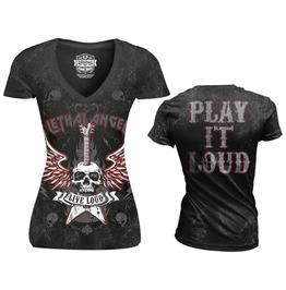 Women Biker Short Sleeve Tattoo T Shirt