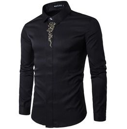 Floral Embroidered Slim Fit Shirt