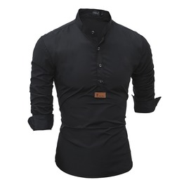 Men's Stand Collar Leisure Slim Fitted Shirt