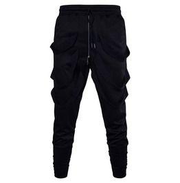 Mens fashion drawstring zipper jogger pants joggers