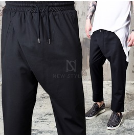 Front Wrap Black Ankle Pants 138