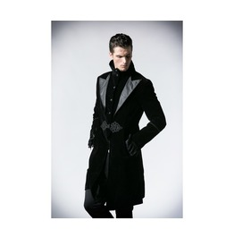 Mens Black Velvet Lestat Vampire Jacket Gothic Victorian Coat $6 To Ship