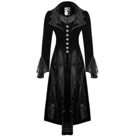 Steampunk Jacket Women Frock Coat Black Velvet Gothic Vtg Victorian Regency