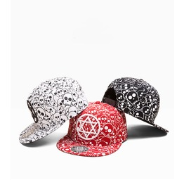 Hip Hop Graffiti Punk Skull Sun Hat,Fashion Style Pentagram Trucker Caps