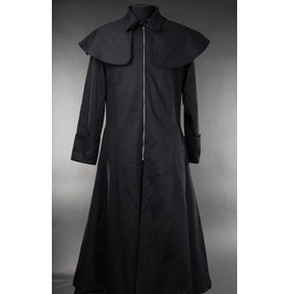 Mens Black Van Helsing Vampire Hunter Full Length Goth Coat Free To Ship