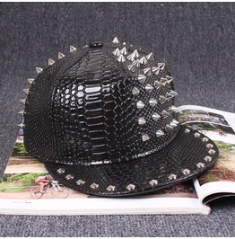 Punk Party Women Fashion Rivets Hat,Hip Hop Baseball Street Caps