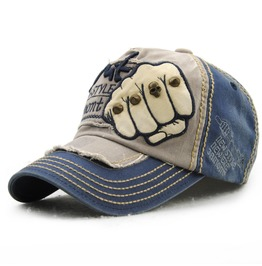 Retro Punk Rivet Fist Cap,Fashion Unisex Baseball Trucker Caps