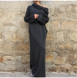 Casual Hooded Long Dress