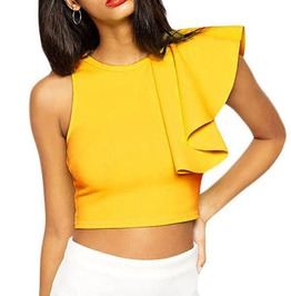 One Shoulder Ruffle Summer Camisole Top