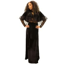 Black Long Velvet Evening Goth Skirt. Sizes Sml To 6 Xl