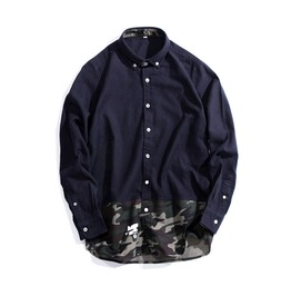New Arrival Men's Navy Blue Casual Shirts
