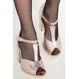 Iron Fist Shoes Mother Of Pearls Heel (Pink)