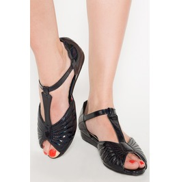 Iron Fist Shoes Mother Of Pearls Sandal (Black)