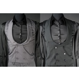 Mens Black Or Gray Dracula Victorian Gothic Vest Waistcoat $6 Shipping