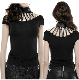Women Gothic Fashion Punk Rock T Shirt Steampunk Sexy Brand Quality Top