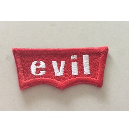 Embroidered Red Tag Evil Iron/Sew On Patch Badge 2 Sizes Available