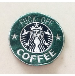 Embroidered Faux Starbucks Fuck Off Coffee Mermaid Patch Iron On/Sew On