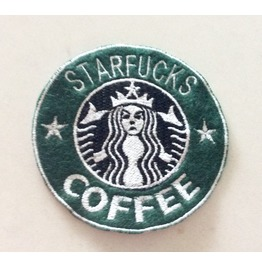 Embroidered Faux Starfucks Coffee Mermaid Patch Iron On/Sew On