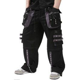 01424561284 New Dead Threads Black Grey Men Trousers Gothic Cotton Studs Metal Punk Emo