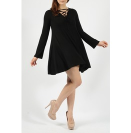 Swing Dress With Lace Detailing