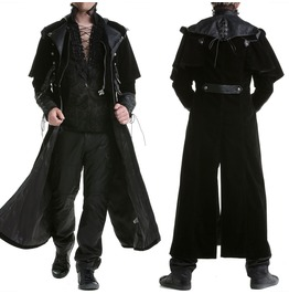 Punk Rave Mens Gothic Steampunk Coat Vtg Regency Highwayman Long Jacket
