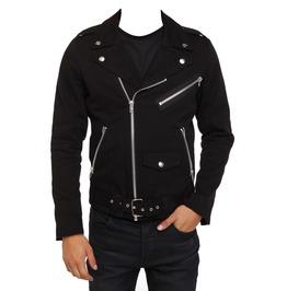 Men Motorcycle Gothic Military Jacket Goth Rip Moto Biker Punk Coat Jacket