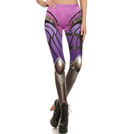Dark Forest Steampunk Pink Cyber Leggings Womens Pants