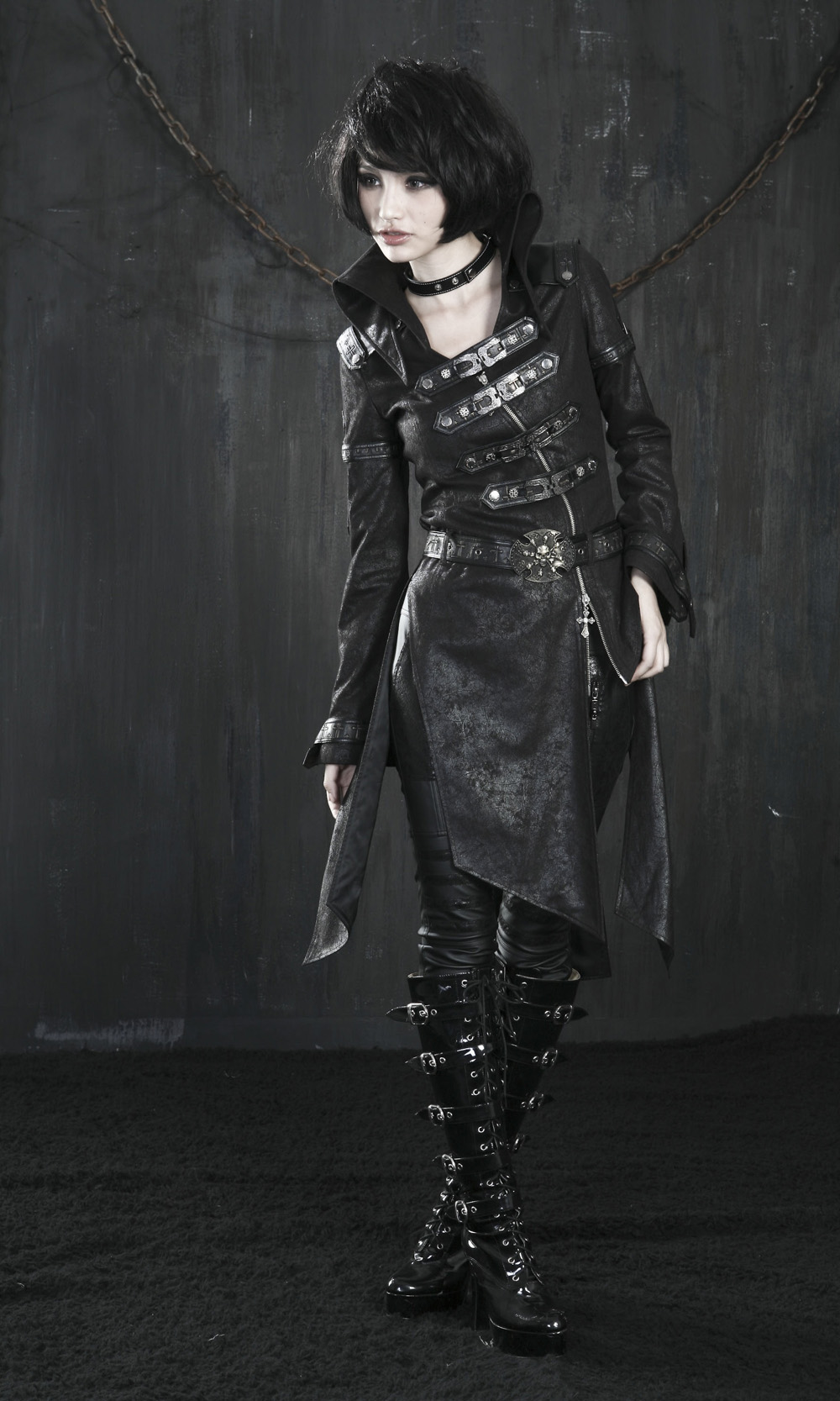 rebelsmarket_ladies_black_long_pleather_coat_steampunk_buckle_punk_rave_jacket_6_ship_coats_2.jpg