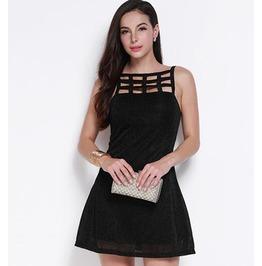 Sexy Hollow Women Dress Black T04