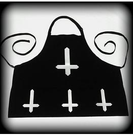 Inverted Cross Apron, Satanic Apron, Satanic Chef, Inverted Cross