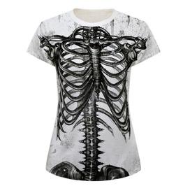 Bare Skeleton T Shirt Top White
