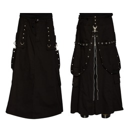 Gothic Long Skirt Pant Bondage Rock Gothic Kilt Techno Goth Pants