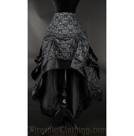 Skull Brocade Layer Bustle Skirt