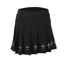High Waist Mini Skirt Crucifix Womens