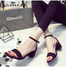 Women's Black Summer Sandals Platform Flat Shoes