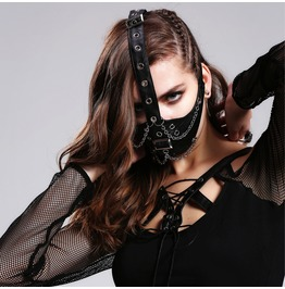 Steampunk Spike Buckle Mask Faux Leather Unisex