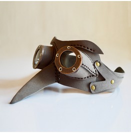 Bird Beak Eye Mask Steampunk Faux Leather